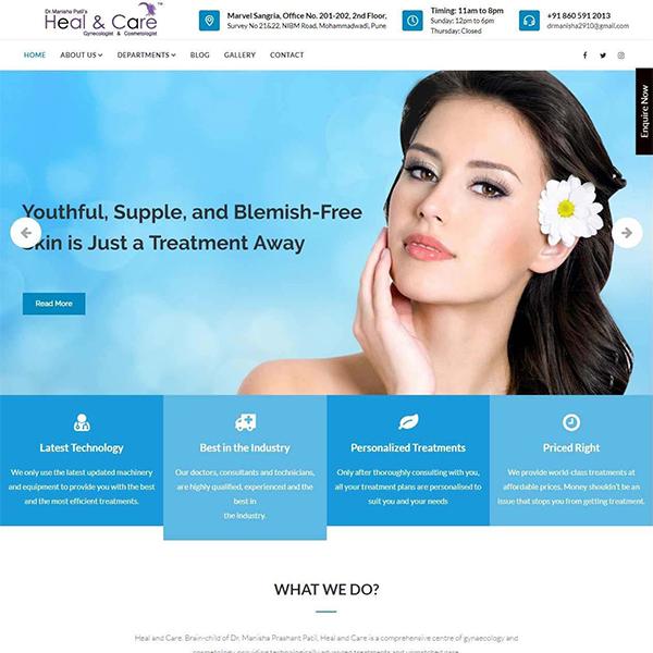 heal and care-website-screenshot